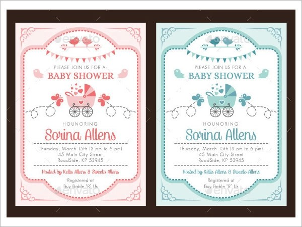 Baby Shower Invitation Template - 19+ Download In Vector, PSD - baby shower invitations for word templates