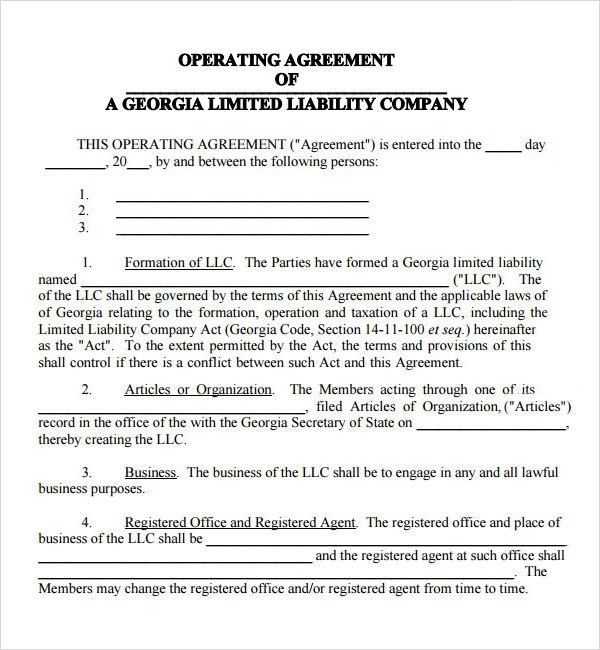 Operating Agreement - 10+ Free PDF , Google DOC, Apple Pages Download