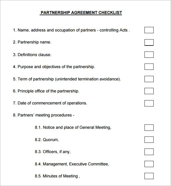 sample collaboration agreement template - partnership agreement template free download