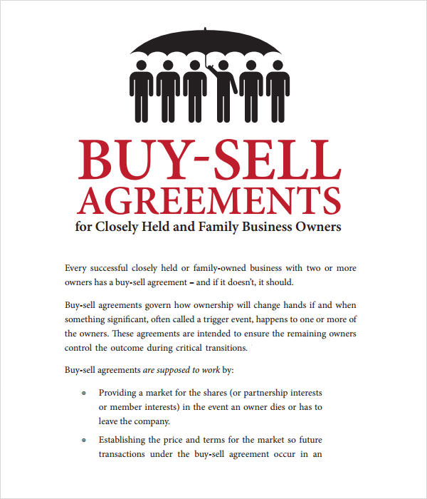 18+ Sample Buy Sell Agreement Templates - Word, PDF, Pages