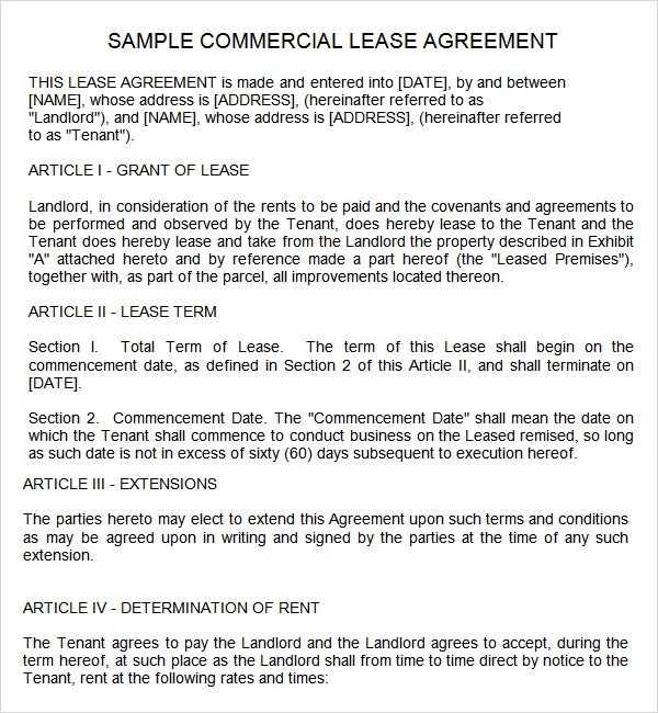 free rental agreement template word - lease agreement template word