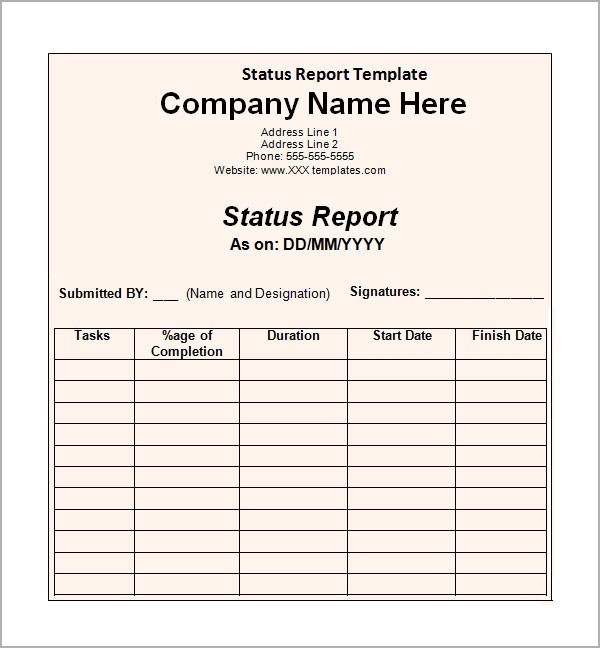 11+ Sample Status Reports Sample Templates - business reporting templates