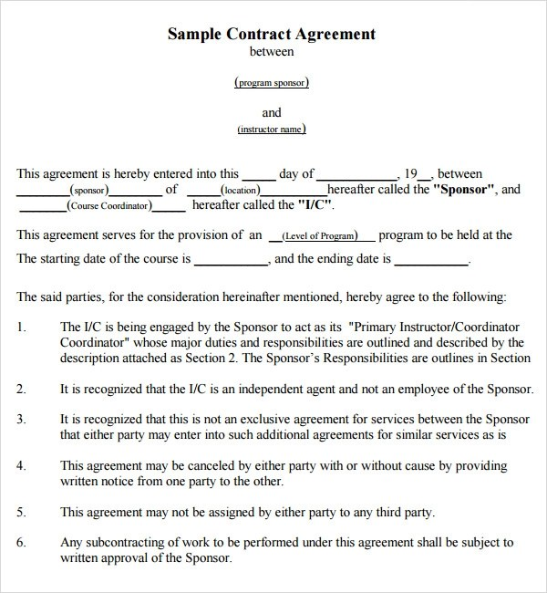 Template For Contract Between Two Parties – Contract Template Between Two Parties