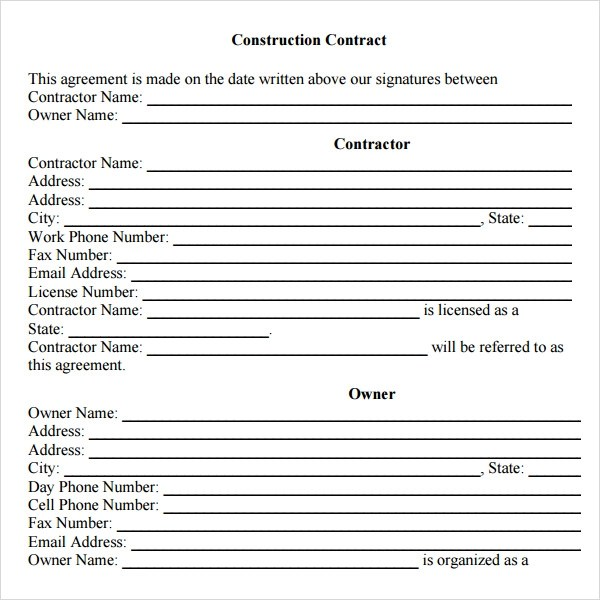 Sample Agreement Contract Between Two Parties – Agreement Contract Sample Between Two Parties