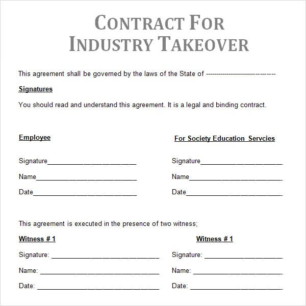Sample Contractual Agreement - 5+ Documents in PDF, Word
