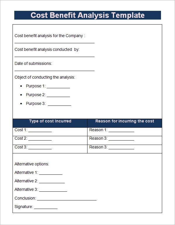 18+ Cost Benefit Analysis Templates - Word, PDF