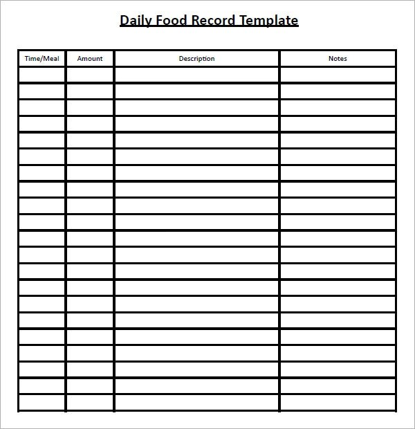 Daily Log Chart - time log sample
