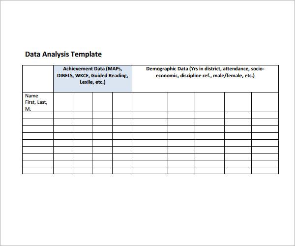 data-analysis-format-Templatejpg - data analysis template
