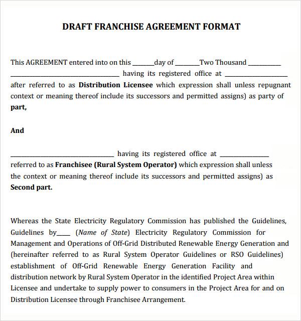 Master Franchise Agreement Template amp Sample Form - mandegarinfo