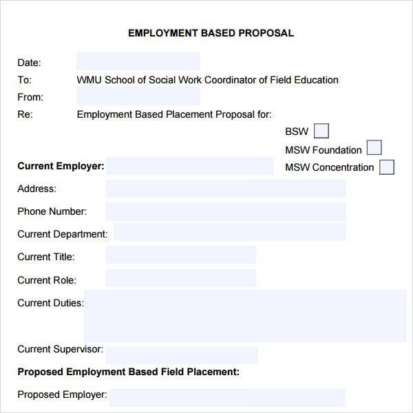 12+ Sample Job Proposal Templates Sample Templates