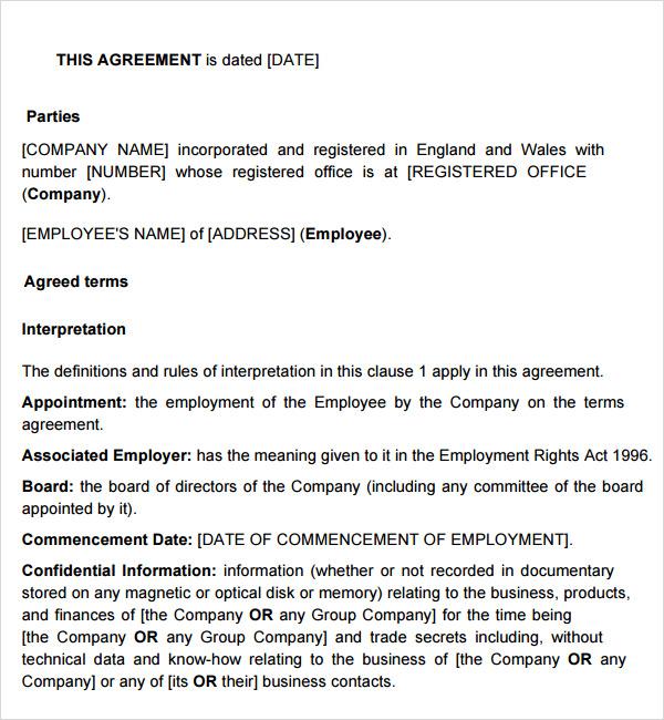 executive employment contract - Teacheng