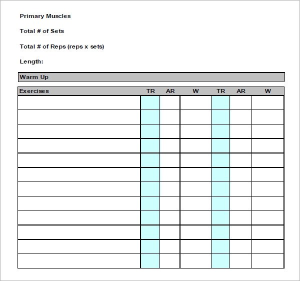 free exercise log - Josemulinohouse - exercise log template