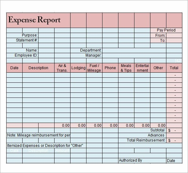 9 Sample Expense Report Templates Sample Templates