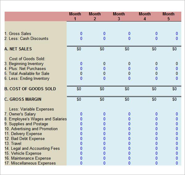 financial analysis template - Romeolandinez