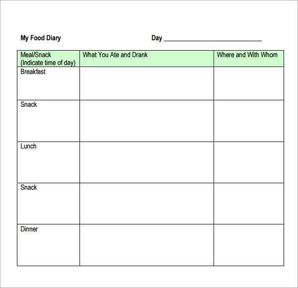 Free Daily Food Log Template  Dots on Turquoise Lesson Plan Book