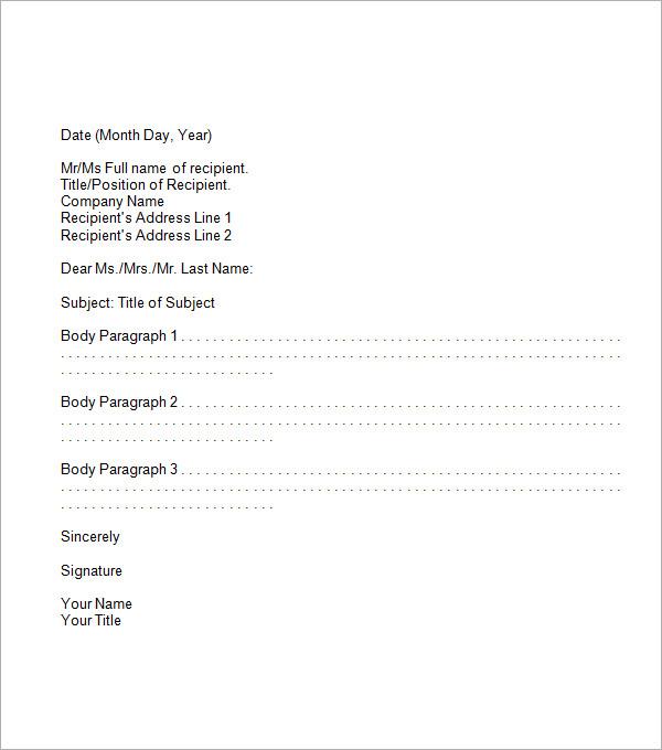 Proper Business Letter  LondaBritishcollegeCo
