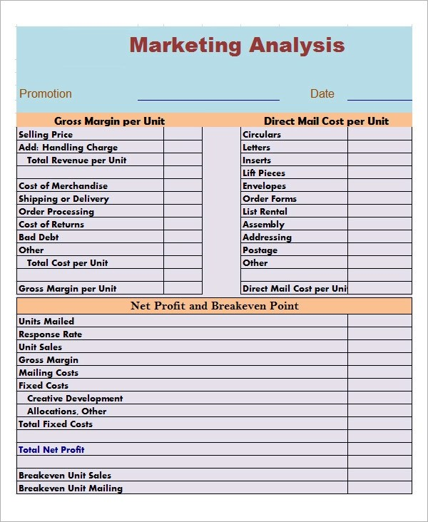 12+ Market Analysis Samples, Examples, Templates Sample Templates - market analysis sample