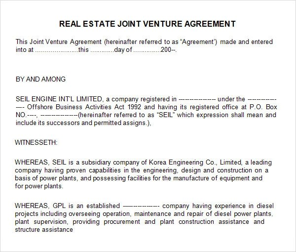 Real Estate Limited Partnership Agreement Template | Resume Maker