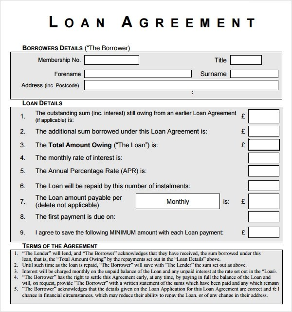 Sample Loan Agreement - 11+ Free Documents Download in PDF, Word