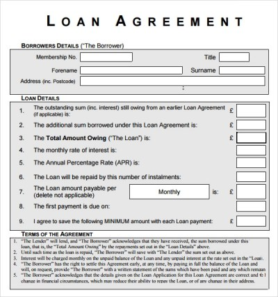 Sample Loan Agreement - 12+ Free Documents Download in PDF, Word