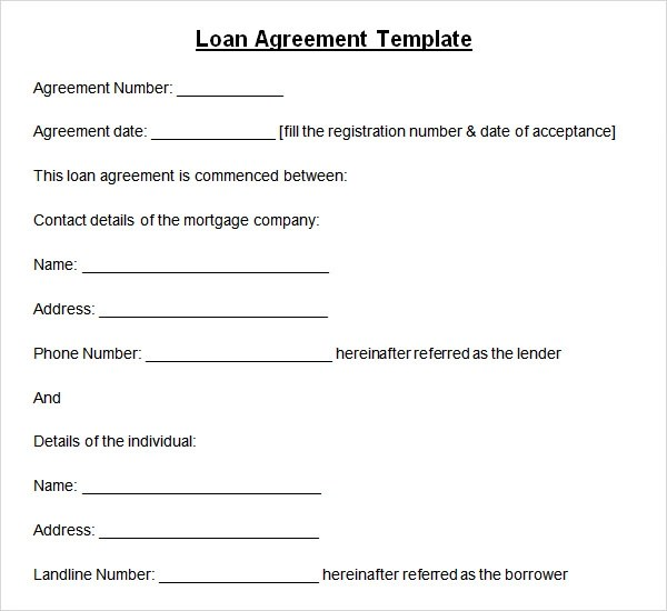 10+ Sample Standard Loan Agreement Templates Sample Templates - Auto Contract Template