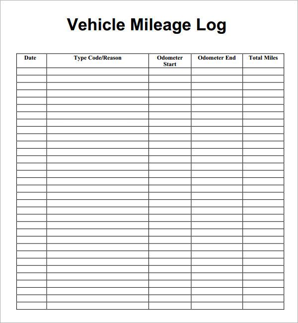 mileage log form - Fashionstellaconstance