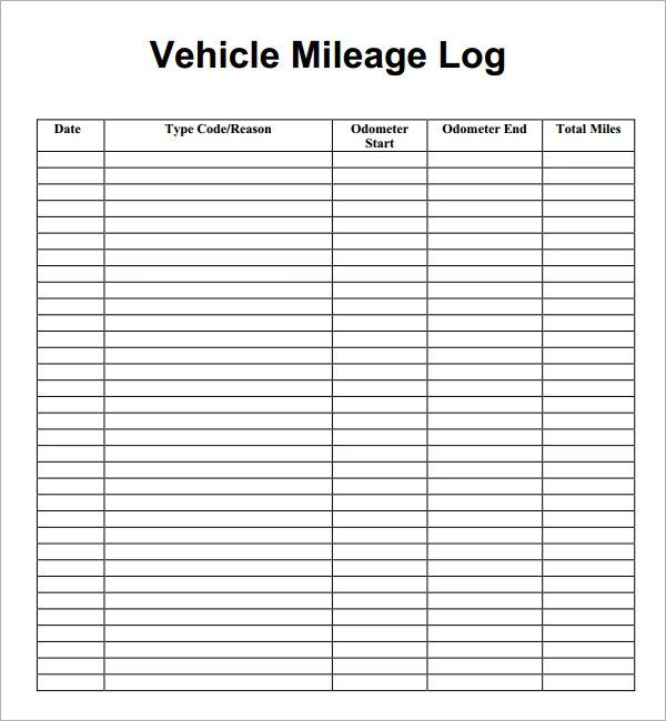 mileage sheet for taxes