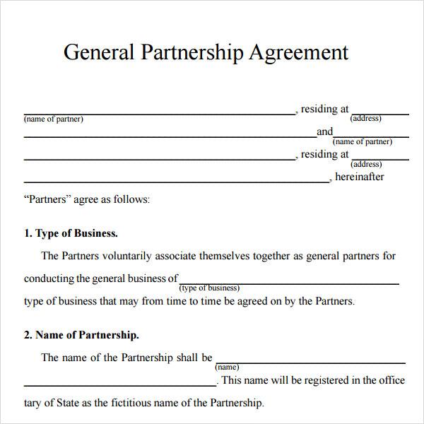 llc partnership agreement sample