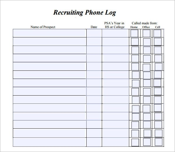 Sample Time Log Template Sample Call Log Template Download Call Log - time log template