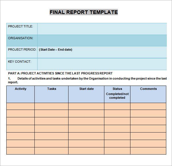 Elementary student progress report template - visualbrainsinfo