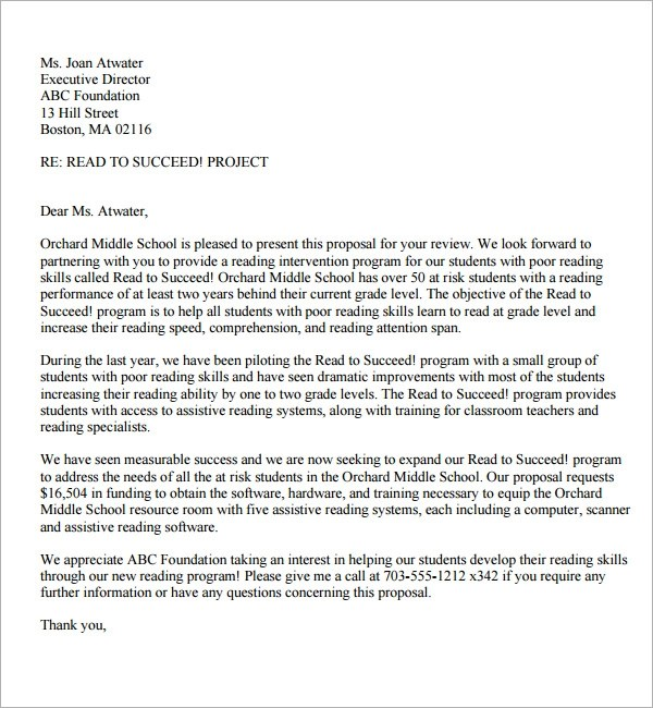 proposal letter format pdf - Ozilalmanoof - Proposal Letter For Project