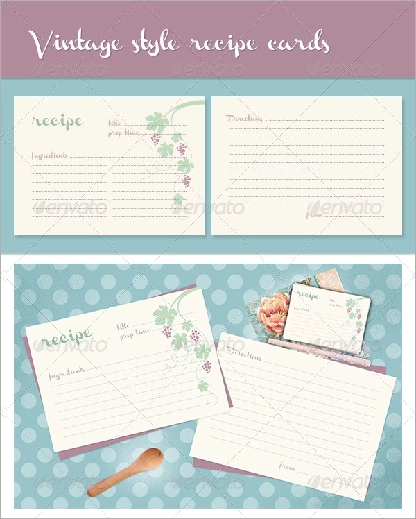 Sample Recipe Card Template - 6+ Free Documents Download in Word, PDF - free recipe card template for word
