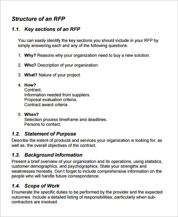 request for proposal form template - Solidgraphikworks