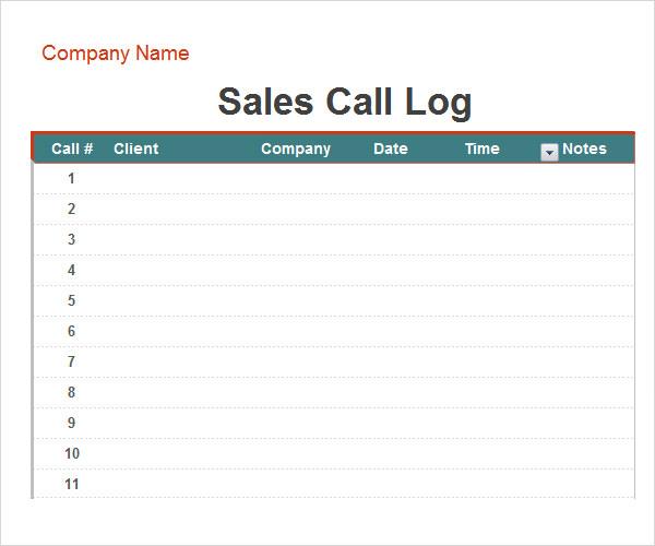 phone call log sheet templates datariouruguay