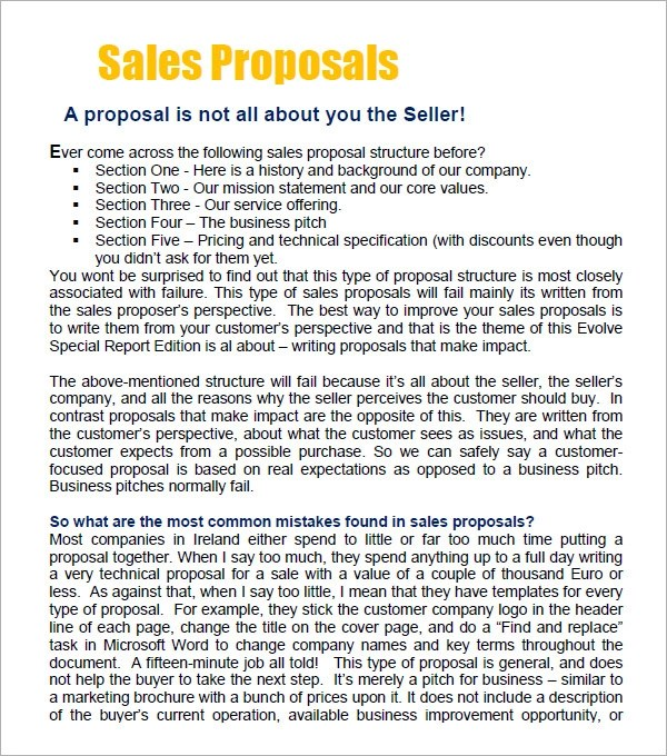 simple sales proposal template - Ozilalmanoof