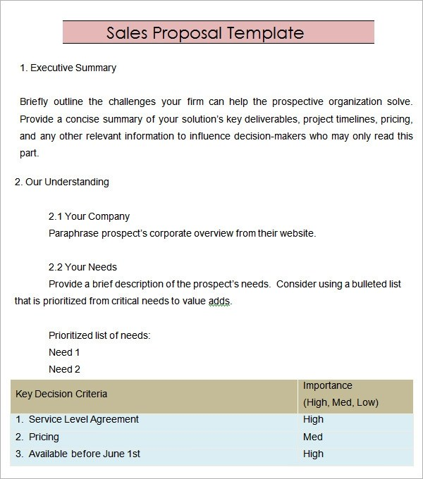 sales proposal format - Elitaaisushi