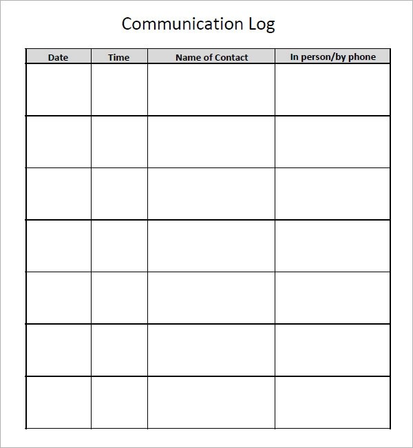 Sample Communication Log - 6+ Documents in PDF, Word - log template sample