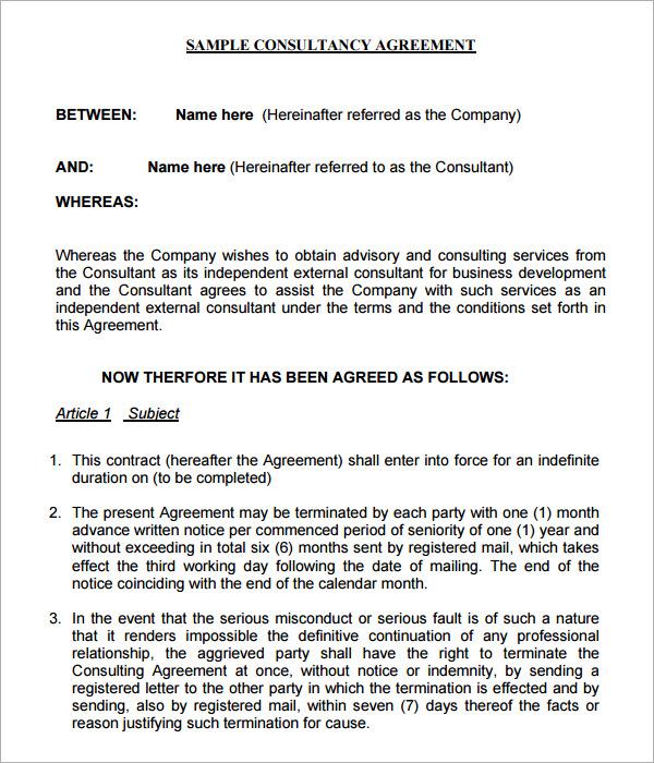 Marketing Consulting Agreement Paul Bain Social Media - consulting agreement examples