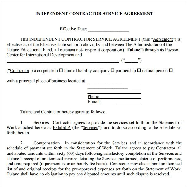 Sample Service Agreement Template - 17+ Free Documents Download in