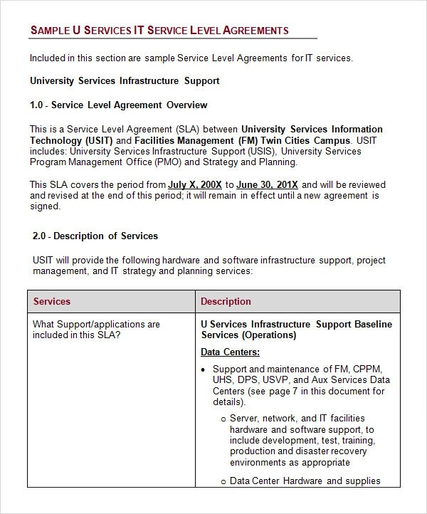 Business Service Level Agreement  NodeCvresumePaasproviderCom