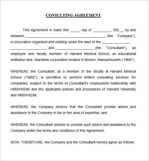 consulting contract template - Teacheng - contract template doc