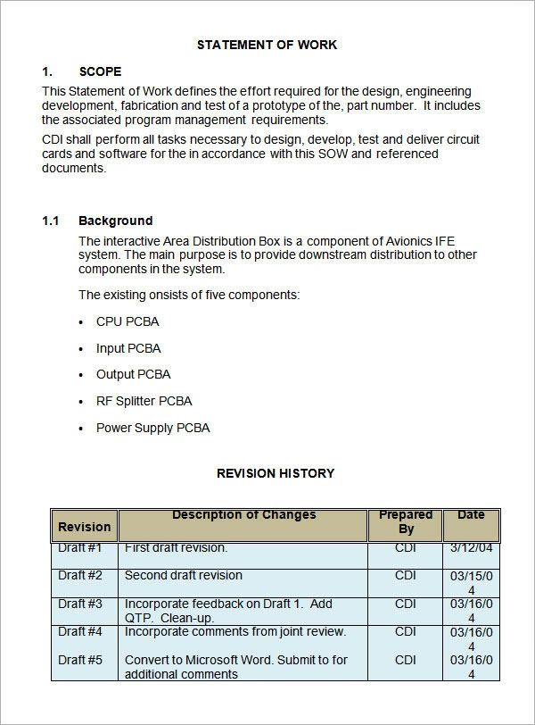 statement of work contract