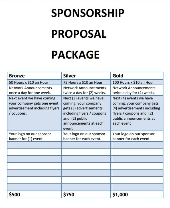 sponsorship proposal template datariouruguay