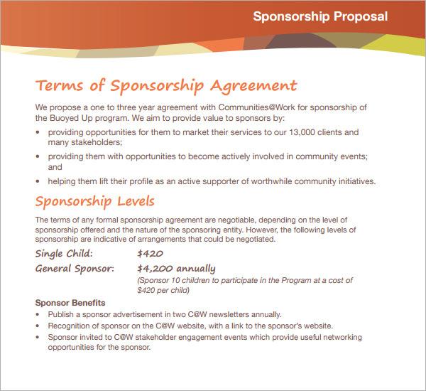 Sponsorship Letter For Racing Sample – Sample Sponsorship Proposals