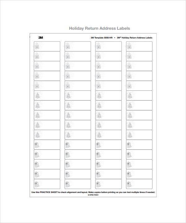 sample address label - sample return address label