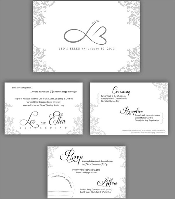 Anniversary Invitation Template - 12+ Download Premium and Free PDF - anniversary invitation template