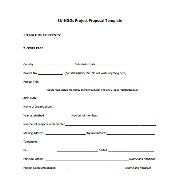 17 Sample Project Proposal Templates for Free Download Sample