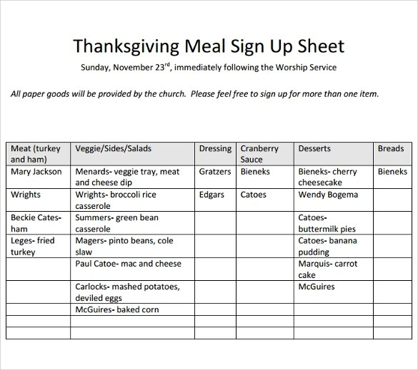 Sign Up Sheet Template - 20+ Download Free Documents in Word, PDF - sample sign up sheet