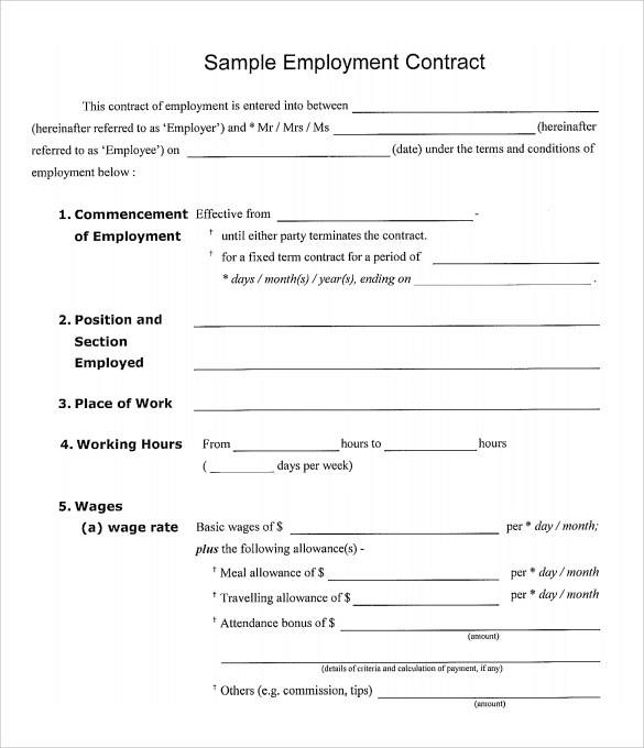 Work Contract Template Construction Contract Sample , 8+ - free construction contracts templates