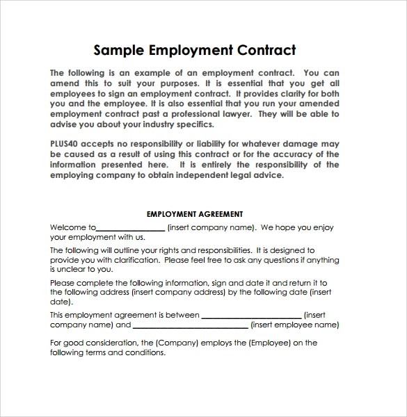Contract Sample Free Contract Templates Word Pdf Agreements Work - Work Contract Template